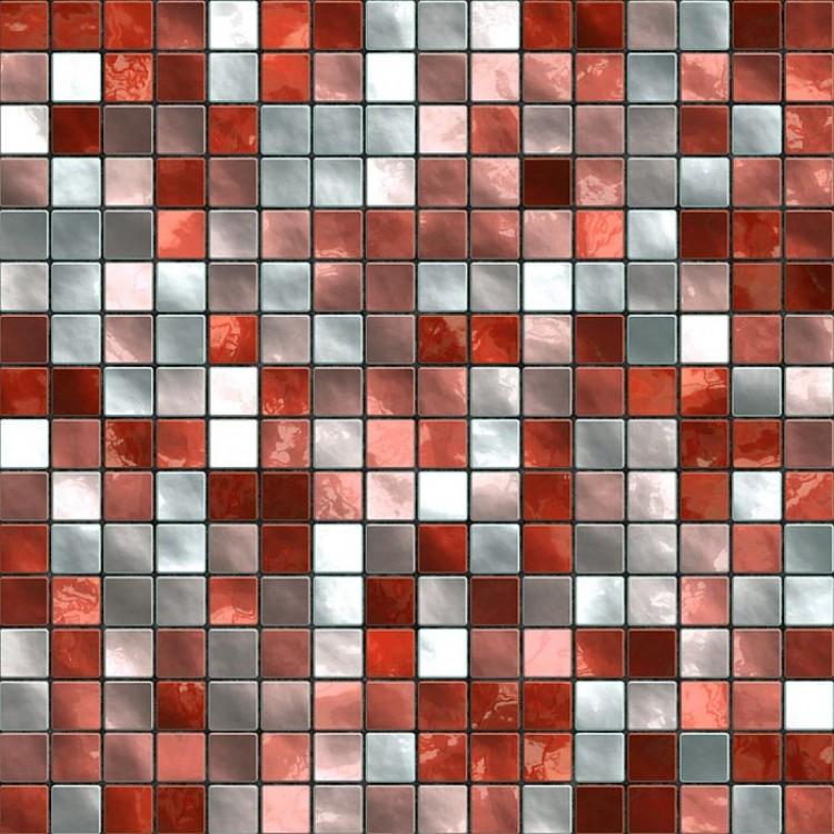 Mosaico Rosso  Carta da parati adesiva