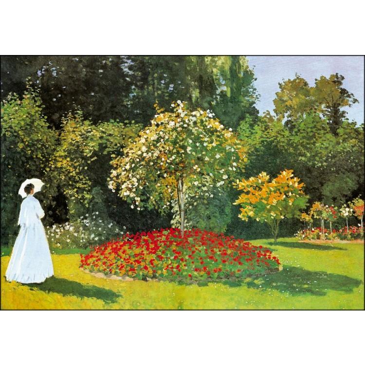Quadro di Monet  Signora in giardino a SaintAdresse