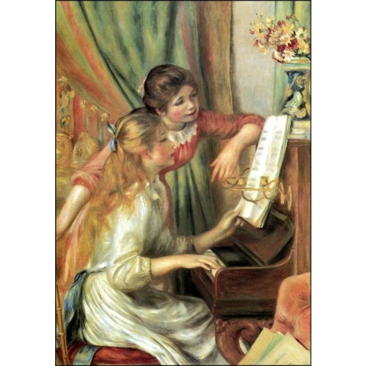 Quadro di Renoir  Ragazze al piano