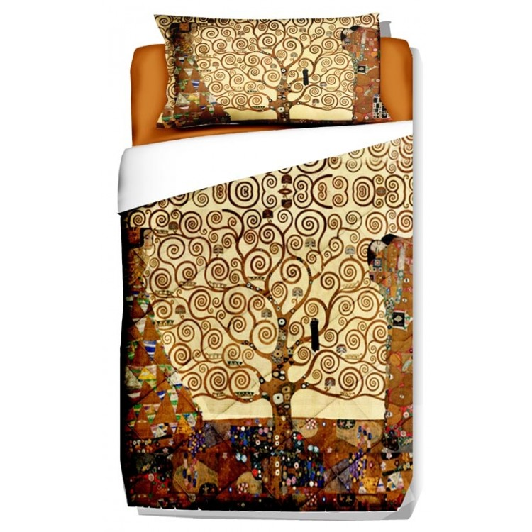 Trapunta Albero della Vita Klimt  Biancheria darredo per
