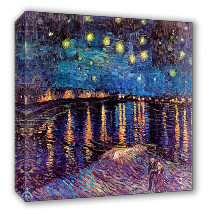Notte stellata sul Rodano  Van Gogh  Quadro alta qualit