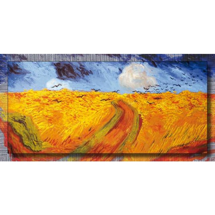 Quadro Van Gogh Campo di grano con volo di corvi