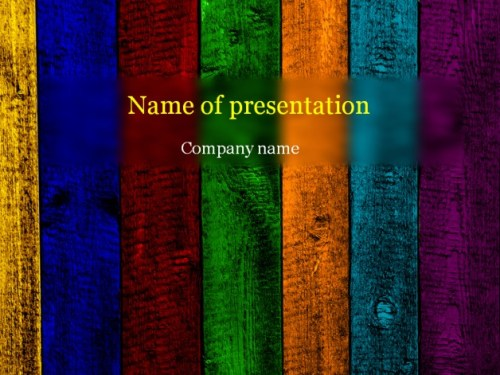 Wooden rainbow powerpoint template