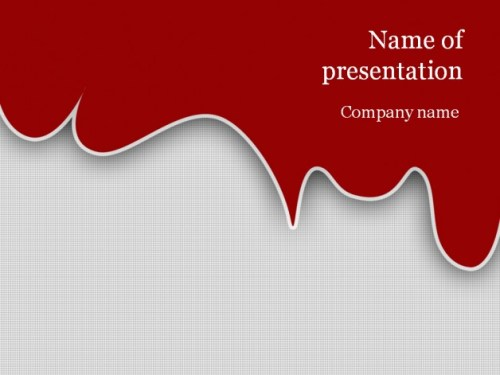 Red blood powerpoint template