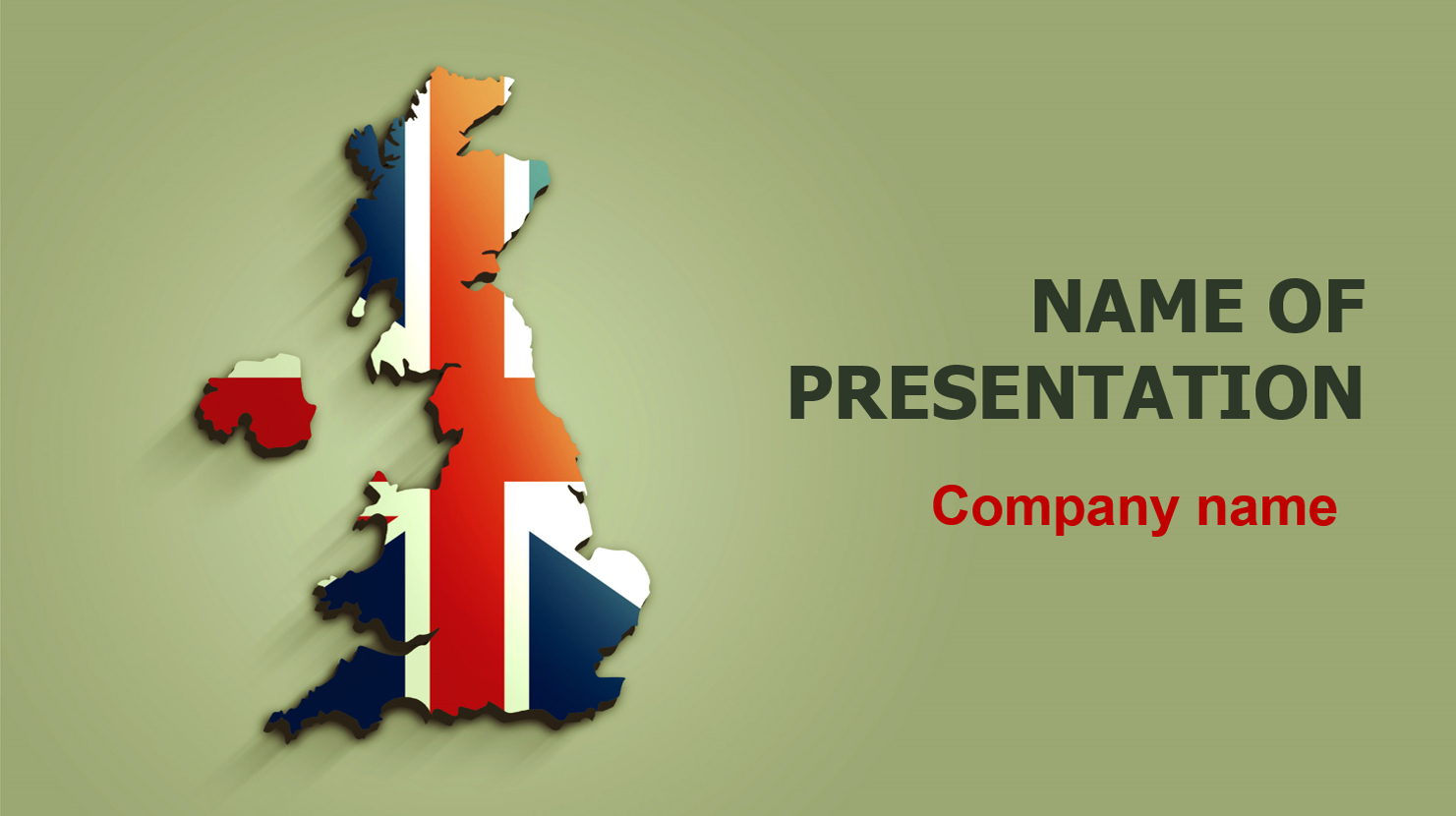 Download Free United Kingdom Flag PowerPoint Theme For