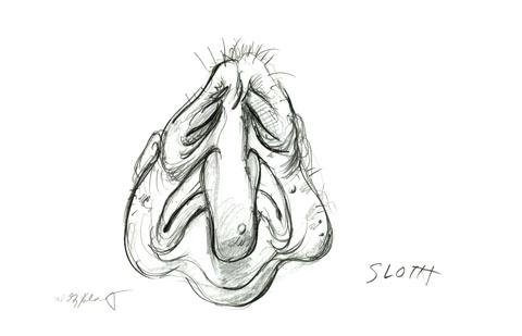 Sloth sketch  Religious  Spiderwebart Gallery