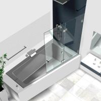 Duschwand Badewanne, Badewannenaufstze aus Glas, Glasduschen