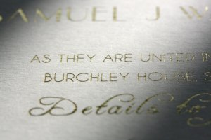 Hot foil blocked Wedding Stationery