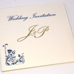 Square Wedding Invitation with Gold Foil