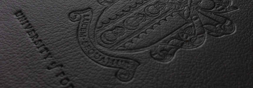 blind embossed branded notebook