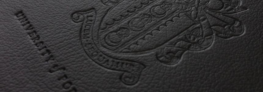blind embossed branded notebook