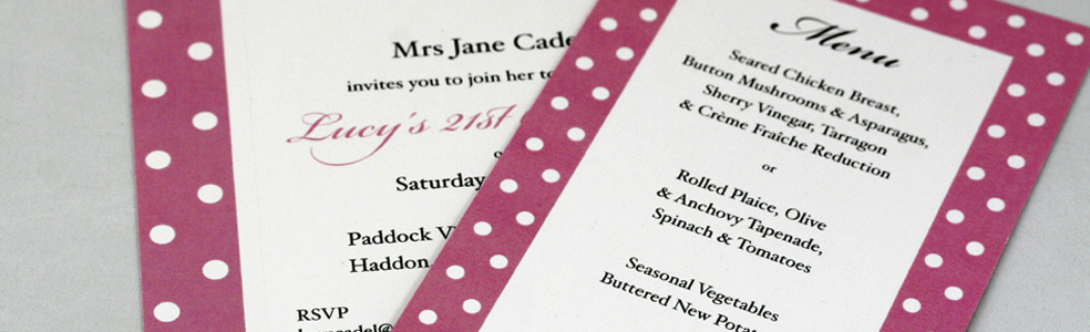 bespoke birthday invitation