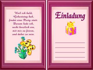 Einladungstexte Fr Geburtstagskarten Online