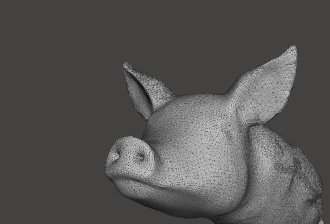Tessellation of a 3D pig (source : i.materialize)
