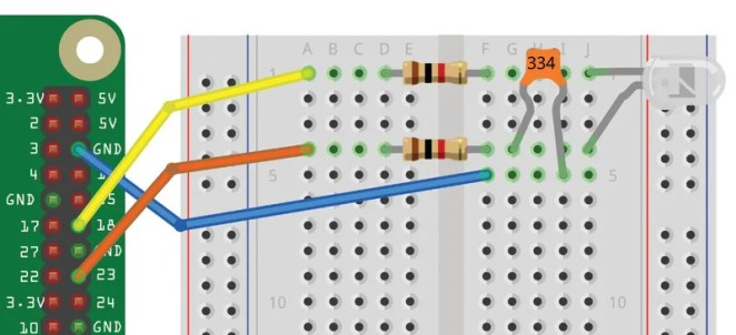 Figure 3 The light meter wiring diagram