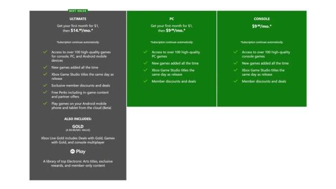 Xbox Game Pass SKU Chooser