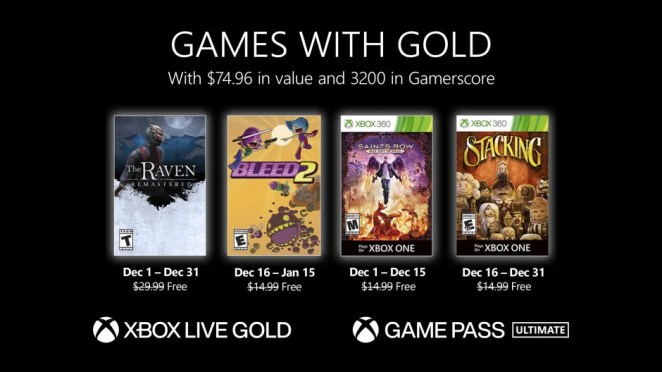 Games with Gold - December 2020