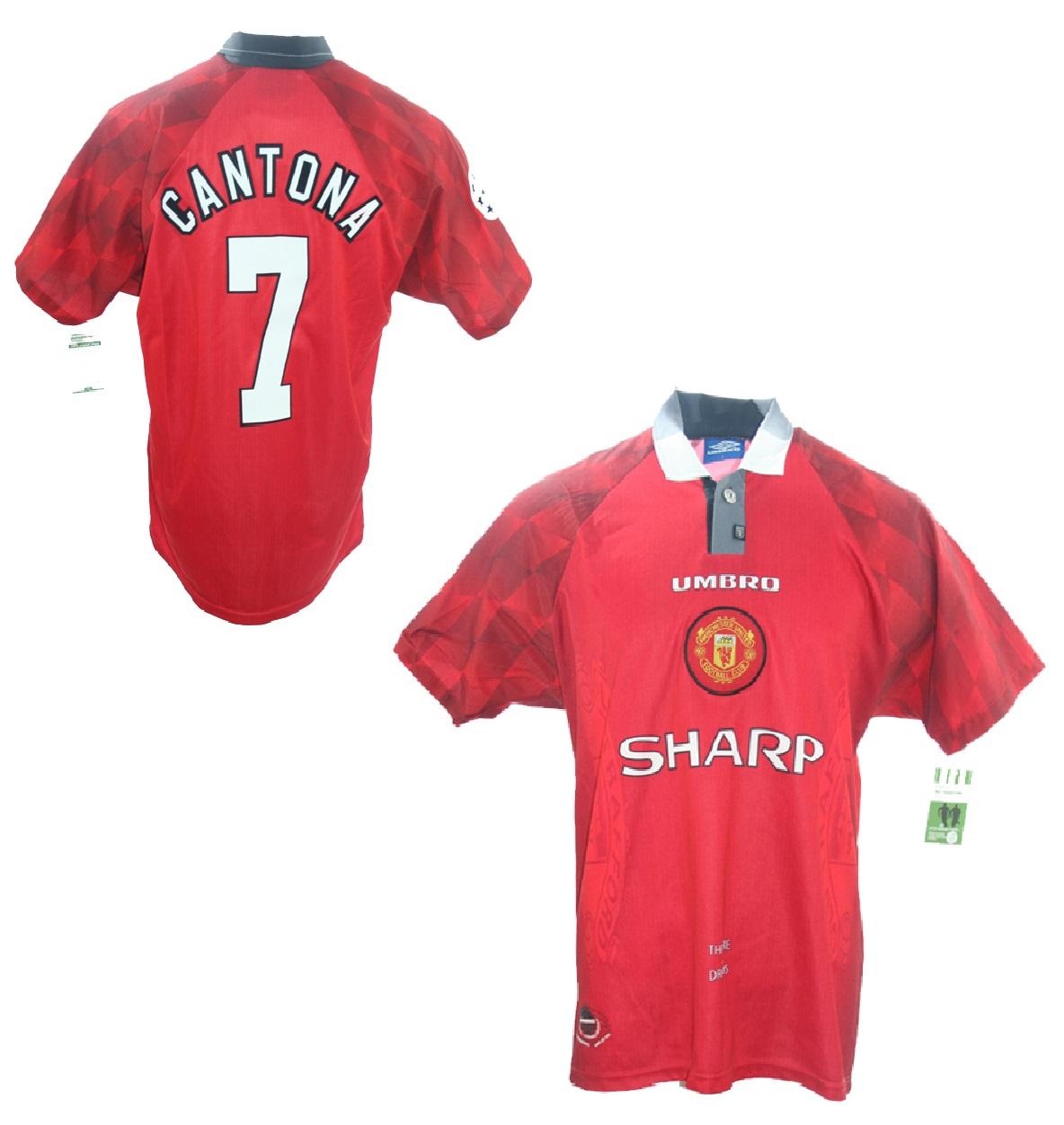 I boken cantona on cantona (1996; Umbro Manchester United Trikot 7 Eric Cantona 1996/97 ...