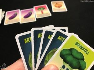 Artischocken Kartenhand
