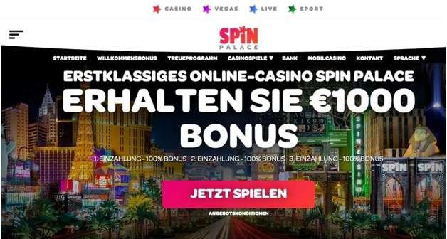 Spin Palace Online Casino für deutsche Spieler
