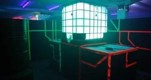 Zentrales Hindernis Lasertag