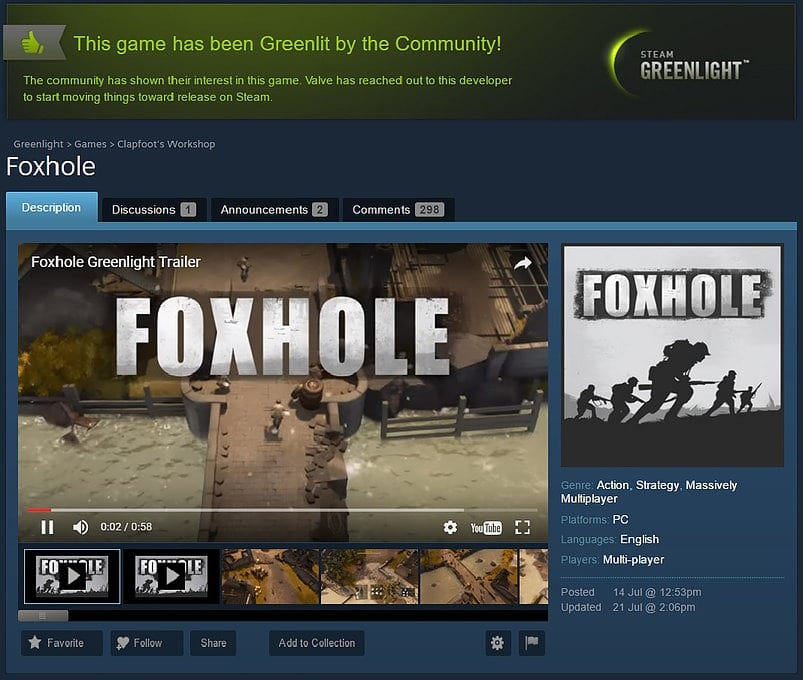 Foxhole Combat Prototype