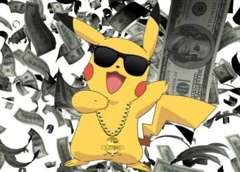 Pokemon Go Top 5 Countries Revenue.