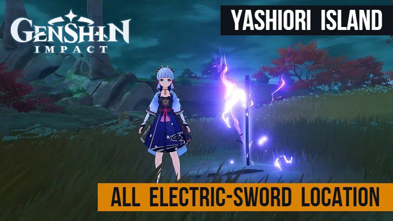 There are lots of activities and collectibles here. Genshin Impact All Yashiori Island Electric Sword Location