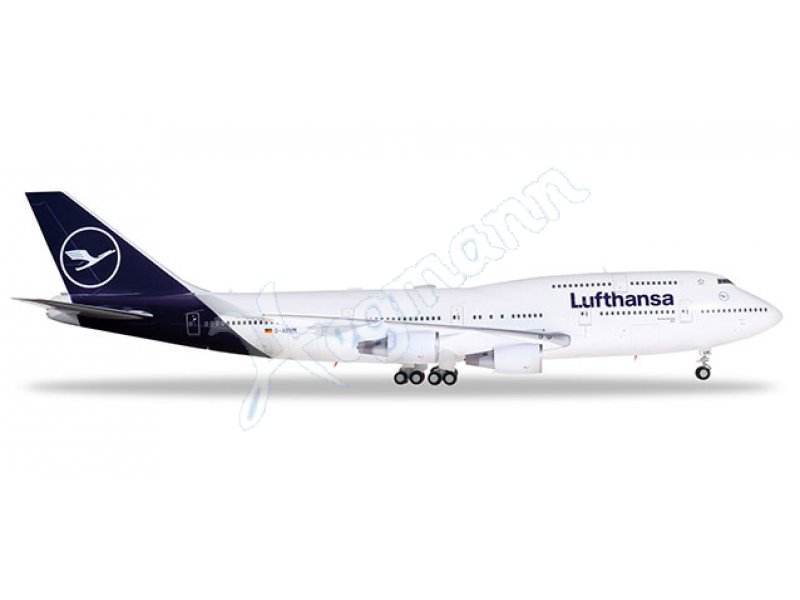B747-400 Lufthansa new colors Herpa Wings 559485 1:200