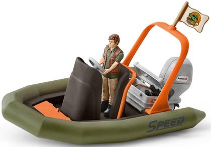Schleich Schlauchboot mit Ranger Wild Life 42352