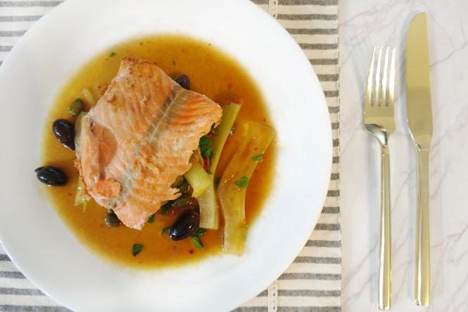 Salmon dish by Sun Basket
