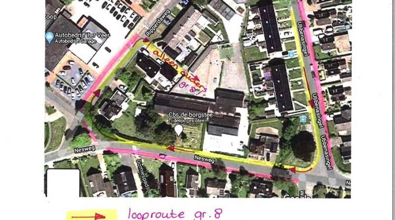looproute-afscheid-groep-8