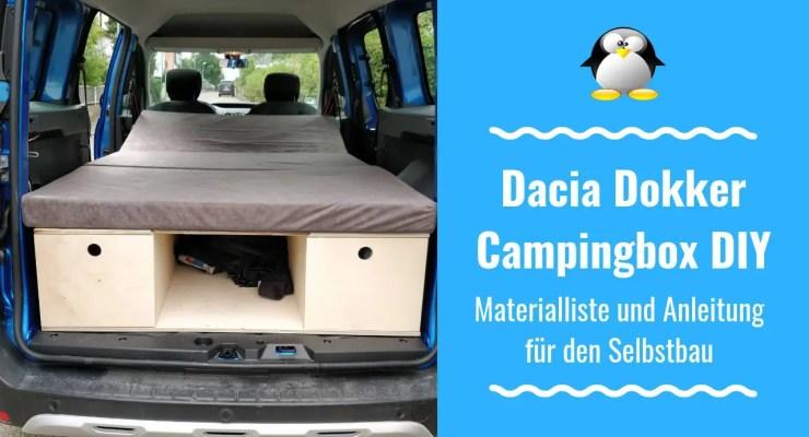 Artikelbild DIY Campingbox Dacia Dokker Materialliste und Anleitung