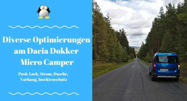 Artikelbild Verschiedene Optimierungen am Dacia Dokker Micro Camper