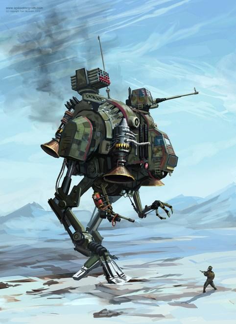 A dieselpunk mech design- Tom McGrath