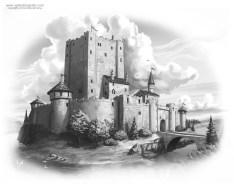 Interior Illustration for Jane Yolen's Plague of Unicorns