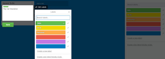 Trello Labels - Add New