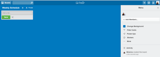 New Trello Board