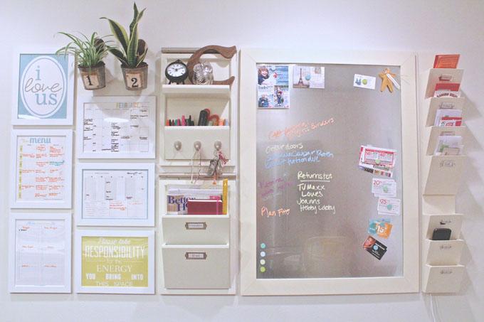 Stylish DIY Kitchen Command Center