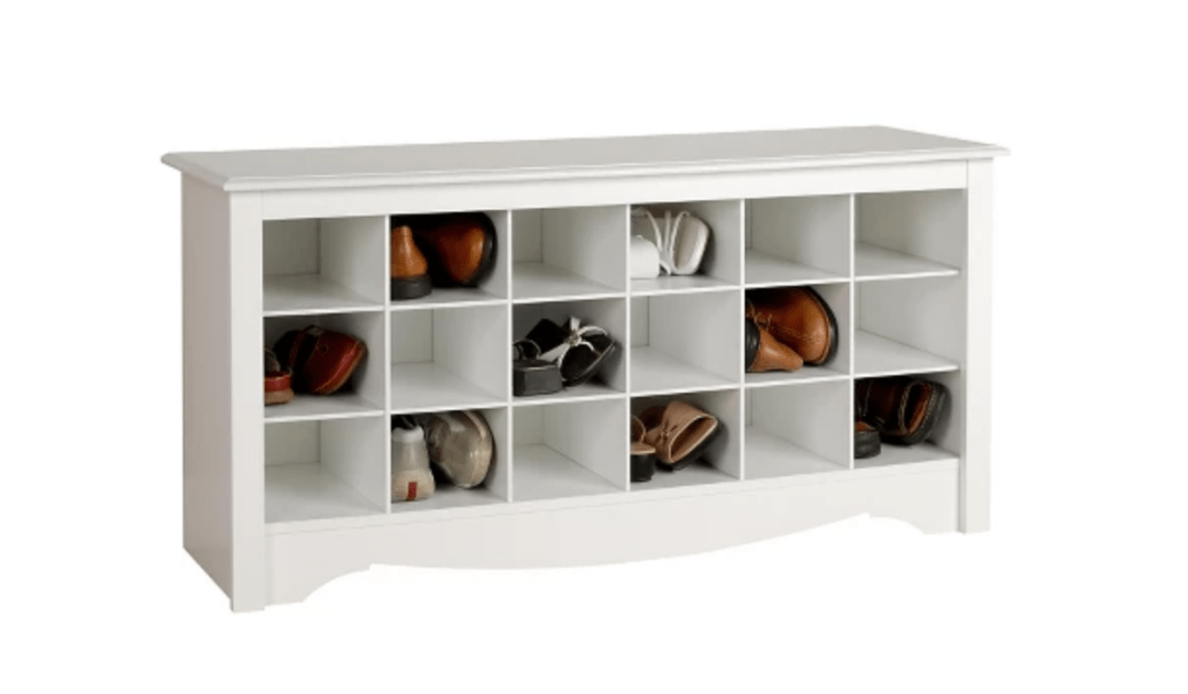 Shoe Storage Cubbie Bench White - Prepac