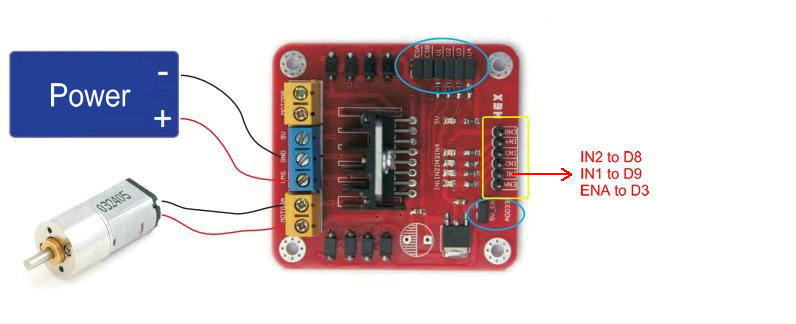 Wiring Diagram In Addition L298 Dual H Bridge Motor Driver On Wiring