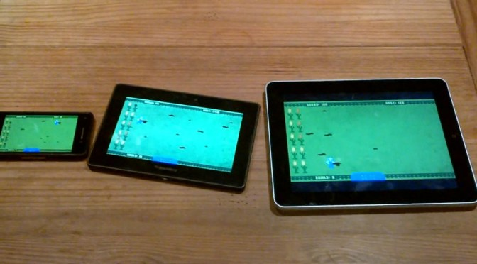 Game packaged with AIR running on 3 different mobile devices