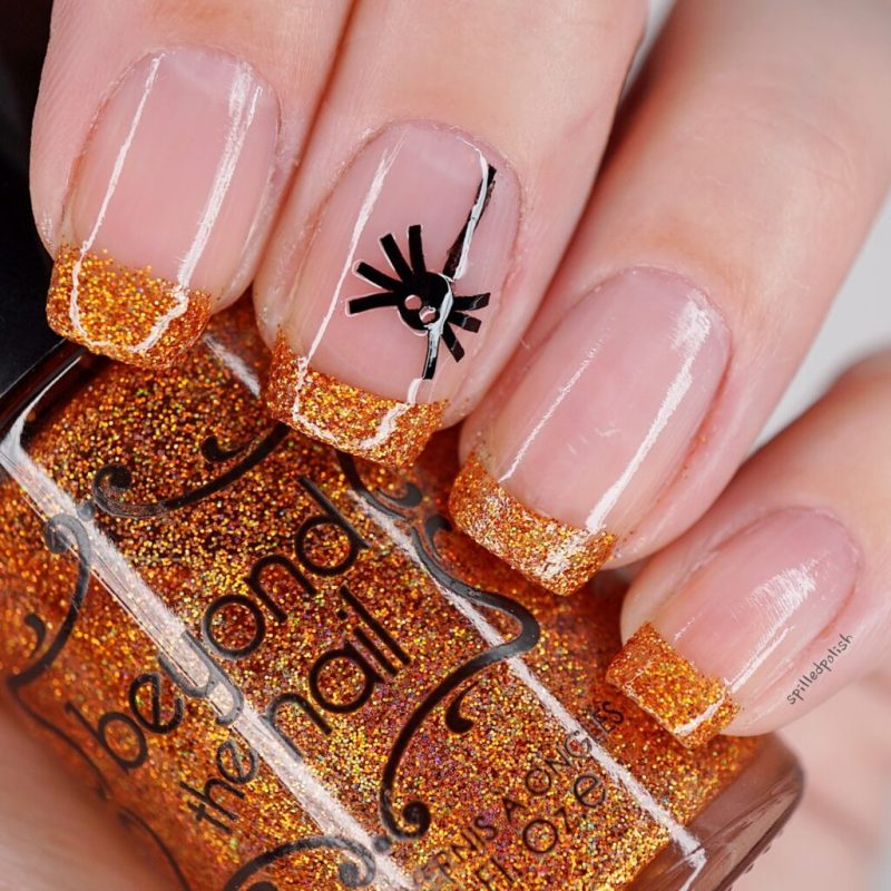 Halloween French Tip Manicure
