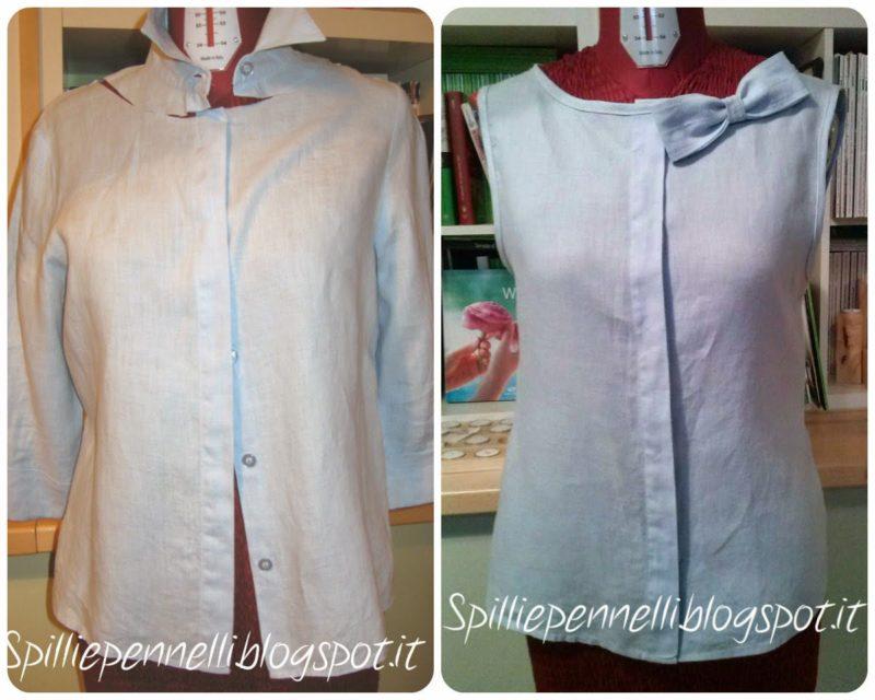 Refashion della camicia di lino