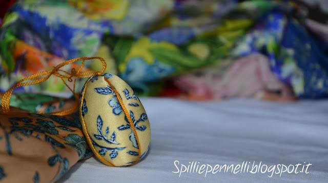 Utilizzo creativo dei ritagli di seta…facciamo le uova per l'albero di Pasqua!
