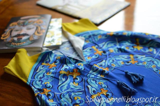 Turchese, giallo e bianco per il mio abito estivo ispirato al Mediterraneo