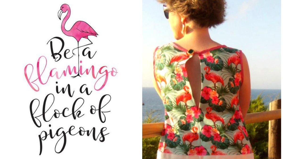 Fenicottero mania: l'abito che è (anche) un omaggio alla Sardegna