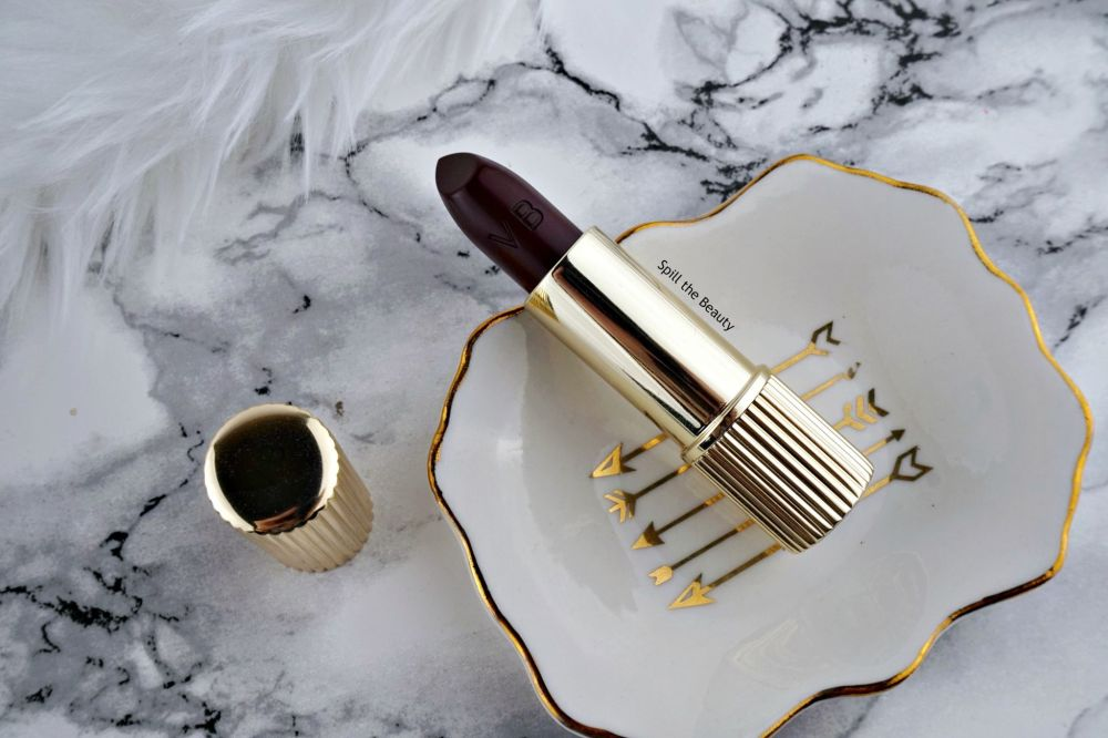 estee lauder victoria beckham moder mercury highlighter lipstick black cassis review swatches