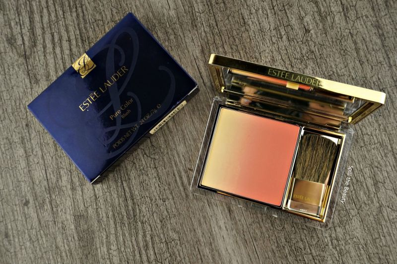 estee lauder pure color blush witty peach review swatches