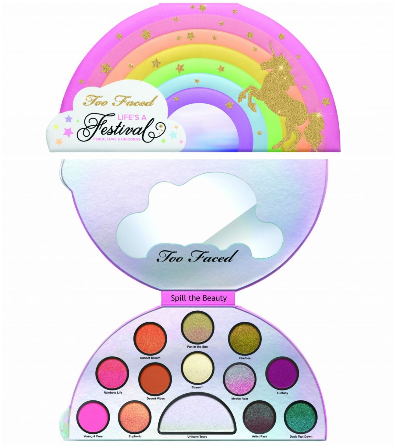 too faced life's a festival collection life's a festival eyeshadow palette